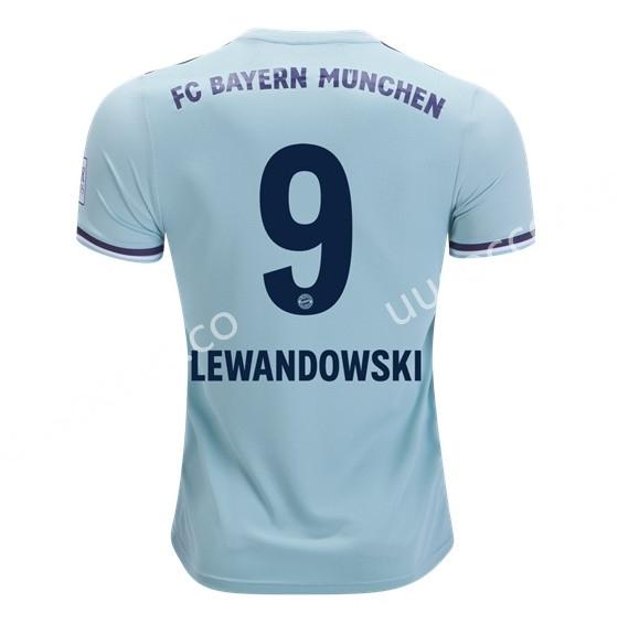 2018 19 Bayern Munchen Away Light Green 9 Lewandowski Thailand Soccer Jersey Aaa Bayern Munchen