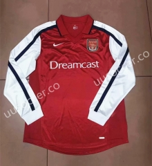 2000 Arsenal Red Thailand LS Soccer Jersey AAA