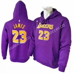 Lakers NBA Purple #23 (JAMES) With Hat Tracksuit Top-CZ