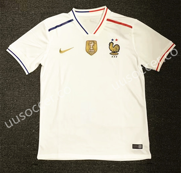 38d453b68 2019-2020 France Away White Thailand Soccer Jersey AAA-407-France ...