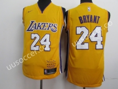 Commemorative Edition Lakers NBA Yellow #24 Jersey