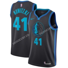 City Version NBA Dallas Mavericks Black #41 Jersey