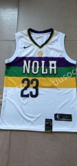 City Version NBA New Orleans Pelicans White #23 Jersey