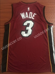 NBA Miami Heat red #3 Jersey