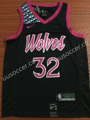 City Version NBA Minnesota Timberwolves Purple #32 Jersey