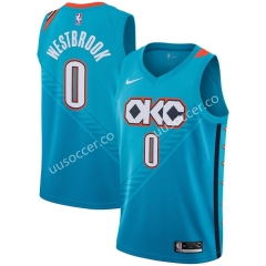 City Version NBA Oklahoma City Thunder Blue #0 Jersey