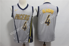 City Version NBA Indiana Pacers White #4 Jersey