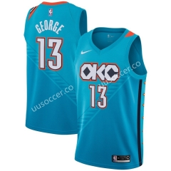 City Version NBA Oklahoma City Thunder Blue #13 Jersey