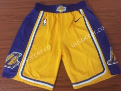 Retro version Lakers NBA Yellow Shorts