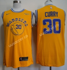 Retro version NBA Golden State Warriors Yellow #30 Jersey