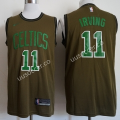 NBA Boston Celtics Army Green #11 Jersey