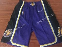Retro version Lakers NBA Purple Shorts