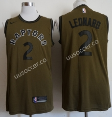 NBA Toronto Raptors Thunder Army Green #2 Jersey