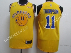 NBA Warriors Yellow #11 Jersey