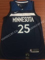 NBA Minnesota Timberwolves Blue #25 Jersey