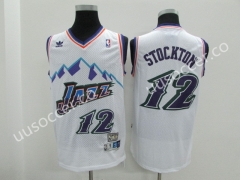 Snow Mountain Edition NBA Utah Jazz WHite #12 Jersey