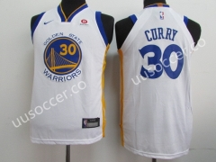 NBA Golden State Warriors White #30 Jersey