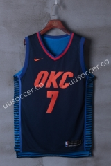 NBA Oklahoma City Thunder Blue & Black #7 Jersey