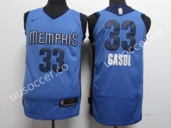 NBA Memphis Grizzlies Blue #33 Jersey