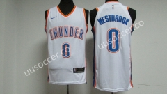 NBA Oklahoma City Thunder White #0 Jersey