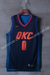 NBA Oklahoma City Thunder Blue & Black #0 Jersey