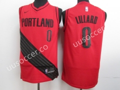 NBA Portland Trail Blazers Red #0 Jersey