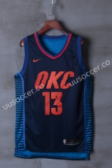 NBA Oklahoma City Thunder Blue & Black #13 Jersey