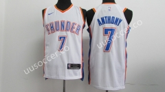 NBA Oklahoma City Thunder White #7 Jersey