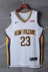 NBA New Orleans Pelicans White #23 Jersey