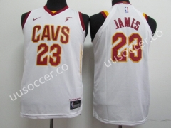2018 NBA Cleveland Cavaliers White #23 Jersey