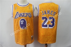 Bape Version NBA Lakers Yellow #23 Jersey