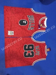 Bape  Version NBA Chicago Bull Red #93 Jersey