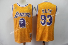 Reward Version NBA Lakers Yellow #93 Jersey