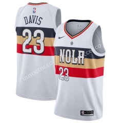 Reward Version NBA New Orleans Pelicans White #23 Jersey