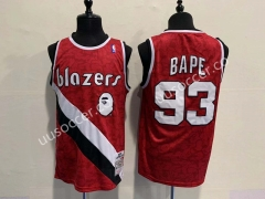 Bape Version NBA Portland Trail Blazers Red #93 Jersey