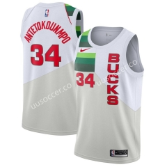 Reward Version NBA New Orleans Pelicans White #34 Jersey