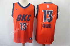 Reward Version NBA Oklahoma City Thunder Orange #13 Jersey