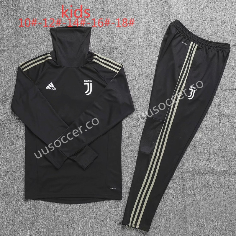 free shipping 26df7 0256d 2018-19 Juventus FC High Collar Black Kids/Youth Soccer ...