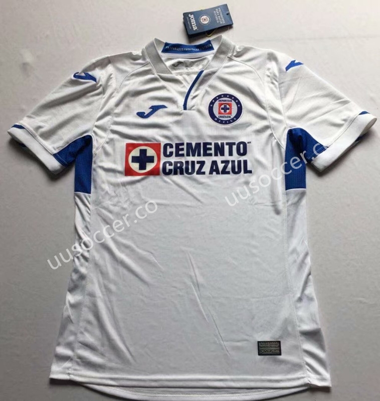 6b83a53d7 2019-2020 Cruz Azul Away White Thailand Soccer Jersey AAA-912-Cruz ...