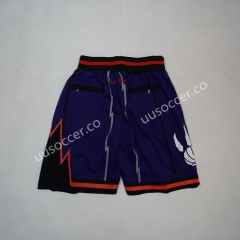Retro version NBA Toronto Raptors Purple Shorts