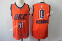 Reward Version NBA Oklahoma City Thunder Orange #0 Jersey