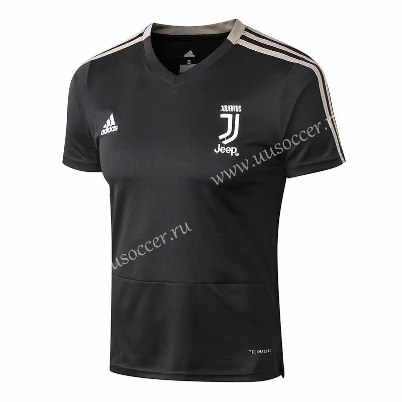e11989631b3 2018-19 Juventus FC Black Thailand Short-sleeved Tracksuit Uniform ...