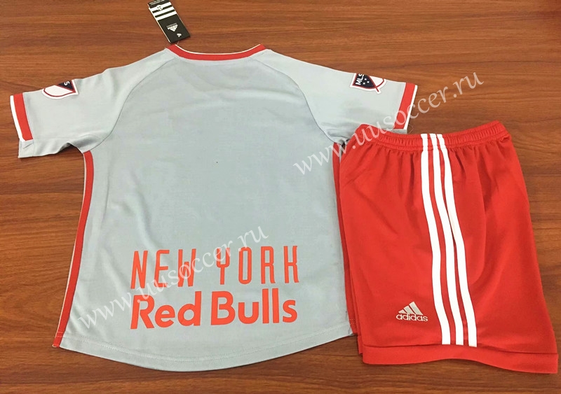 60f5e06c6 2019-2020 New York Red Bulls Away Gray Kids Youth Soccer Uniform-New ...