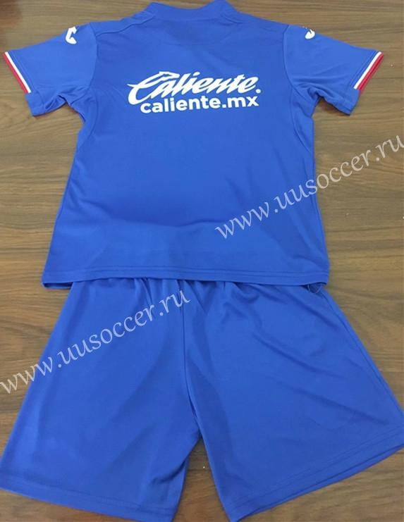 0abd4d729ba 2019-2020 Cruz Azul Home Blue Black Kids/Youth Soccer Uniform-Cruz ...