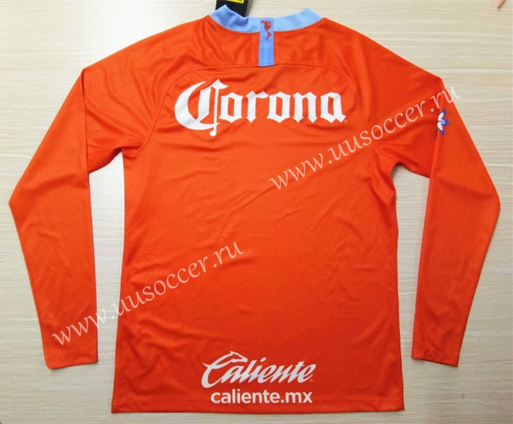 34550bb7937 2019-2020 Club America 2nd Away Orange LS Thailand Soccer Jersey AAA ...