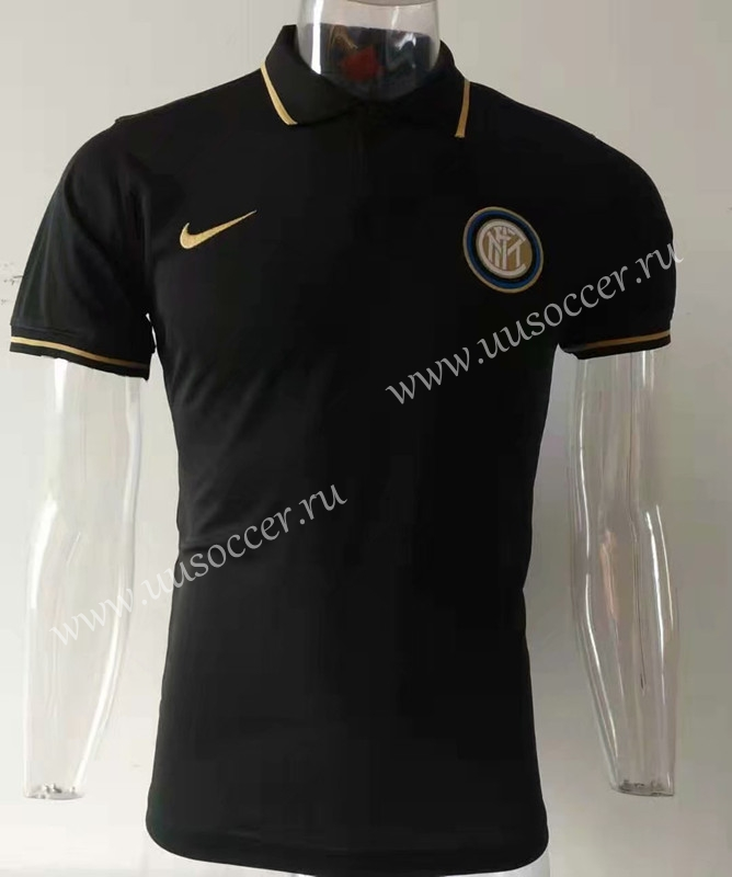 competitive price d59f9 fa288 2019-2020 Inter Milan Black Thailand Soccer Polo Shirt-811 ...