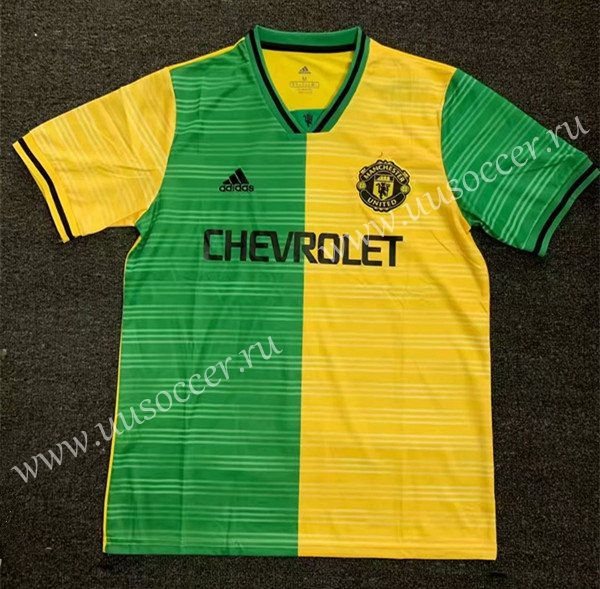 Limited Version 2019 20 Manchester United Yellow Green Thailand Soccer Jersey Aaa Manchester United