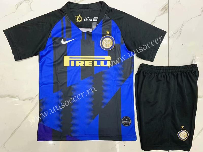 e77766f6a790 Commemorative Edition 2019-2020 Inter Milan Home Blue Black Kids ...