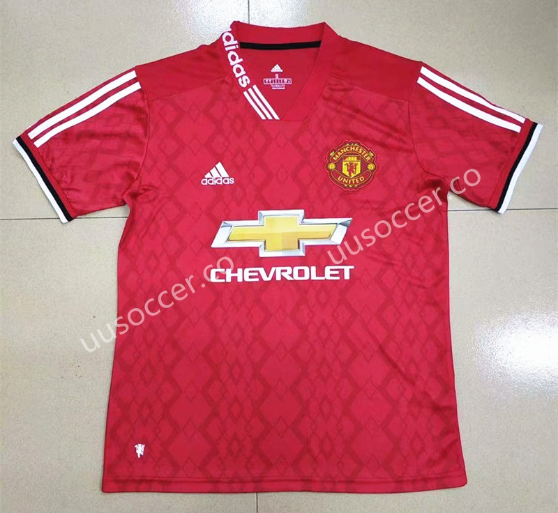 8fdf322b4bd GanNian Version 2019-2020 Manchester United Home Red Thailand Soccer ...
