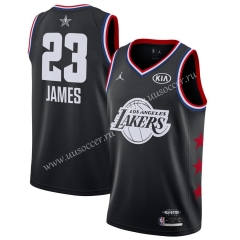 2019 All-Star Version NBA Lakers Black #23 with logo Jersey